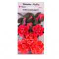 Big handmade rose red