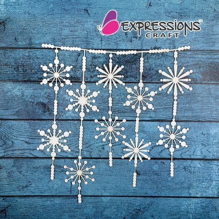 Snow Flakes Dangler chipboard