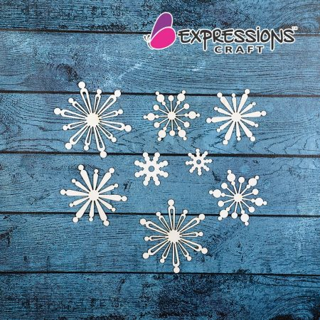 Snow Flakes chipboard embellishments