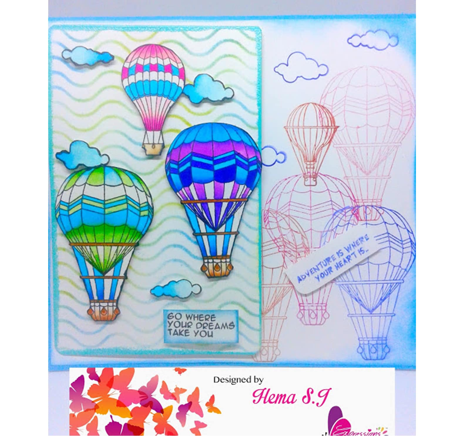 Tuto Niche Pour Chat hot air balloon card | expressions craft