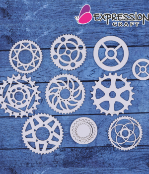 Gear chipboard embellishments