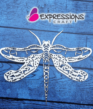 Dragonfly chipboard embellishments